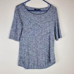Apt. 9 Gray & White Short Sleeve Top - Size M